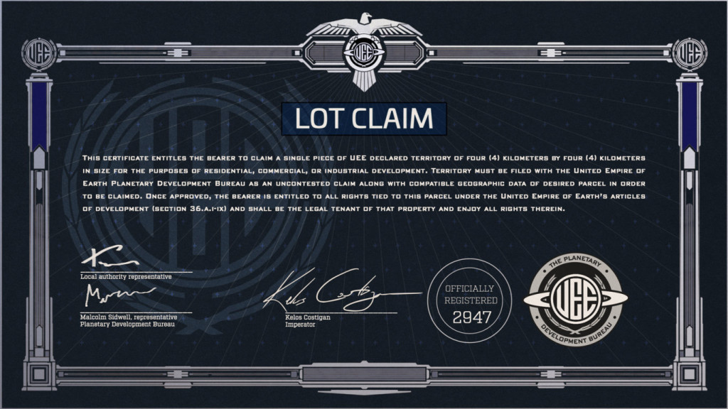 Star Citizen   LOT Claim