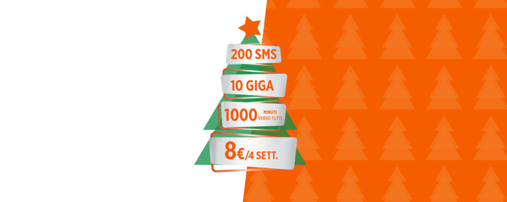 Wind Smart Xmas Limited Edition, 1000 minuti e 10 Giga in 4G a 8 euro