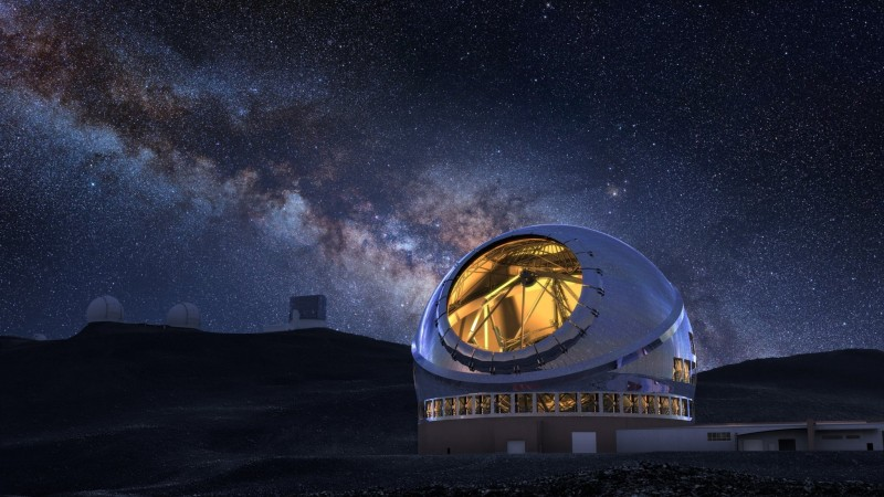 thirty meter telescope illustration nao japan