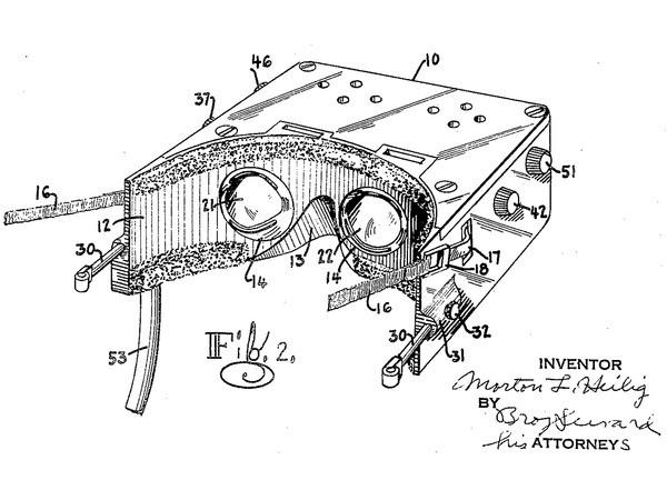 Il brevetto di Heilig per un visore
