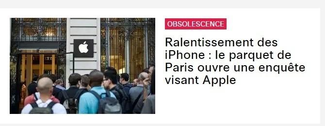 Prima pagina Liberation apple obsolescenza programmata