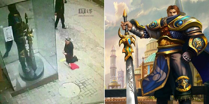 Anziana prega per sbaglio la statua di un eroe di LoL