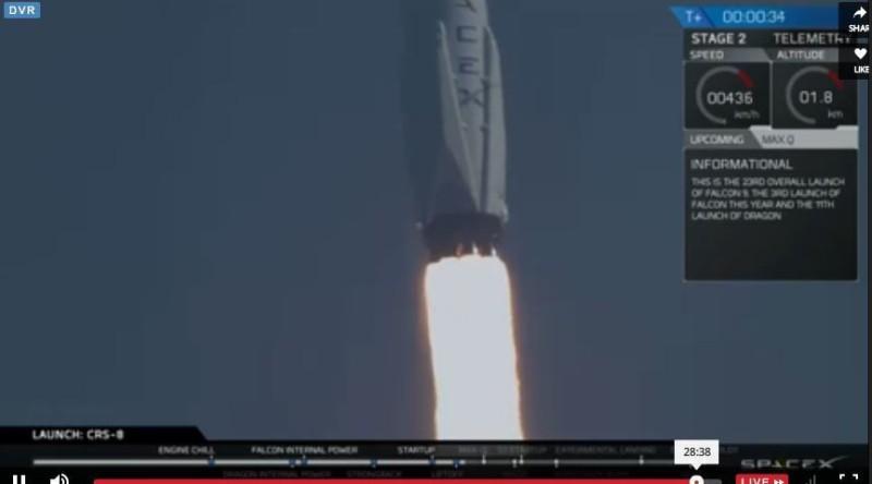 Falcon9 atterra in verticale sull'oceano: storica impresa per SpaceX ed Elon Musk
