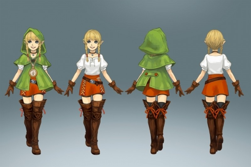 hyrule warriors legends linkle art  large