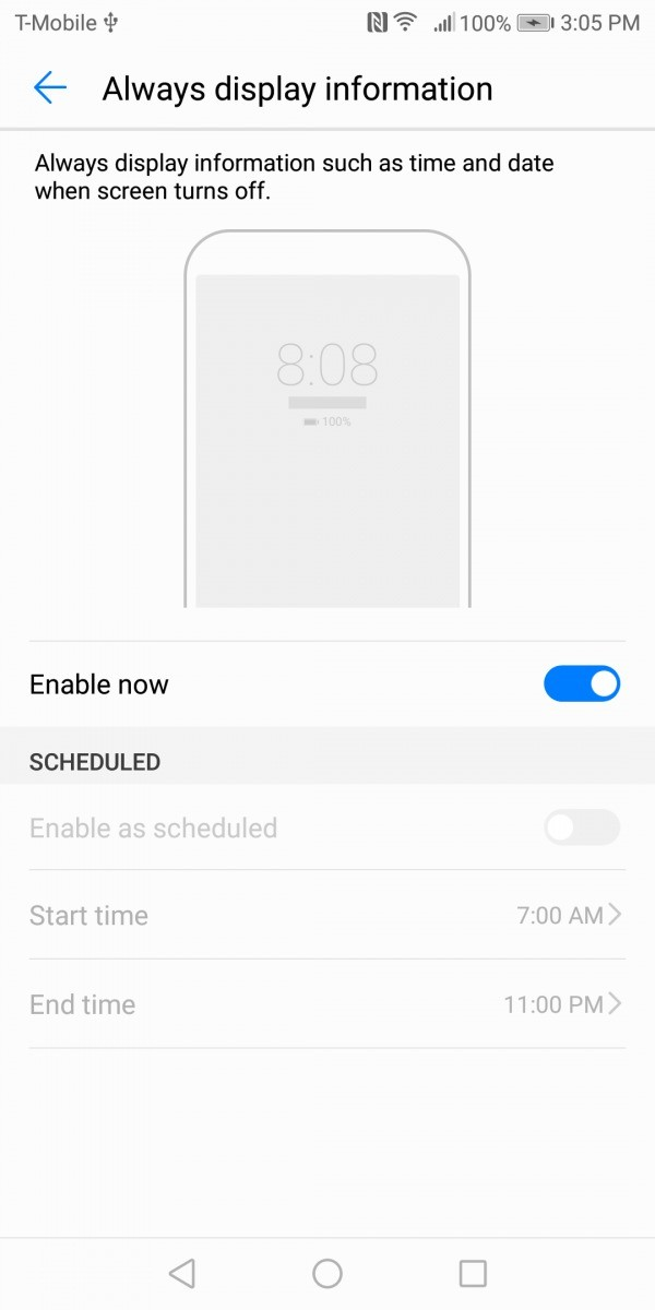 Huawei Mate 10 Pro Always on Display Settings 2