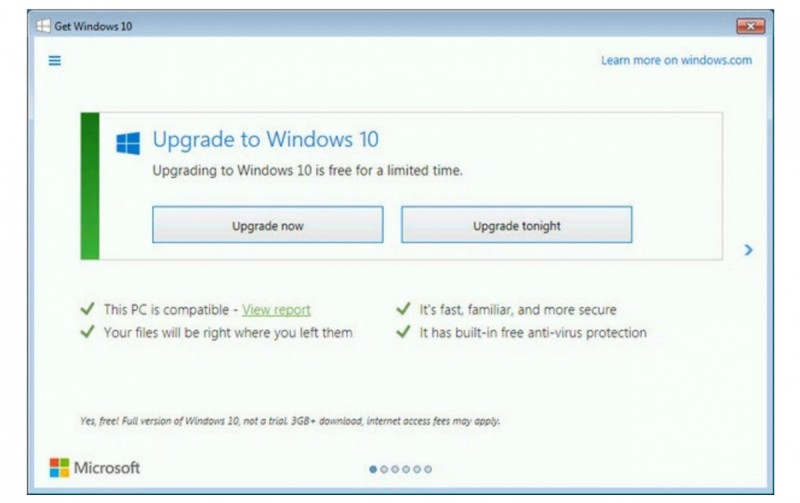 Windows 10 Old Upgrade
