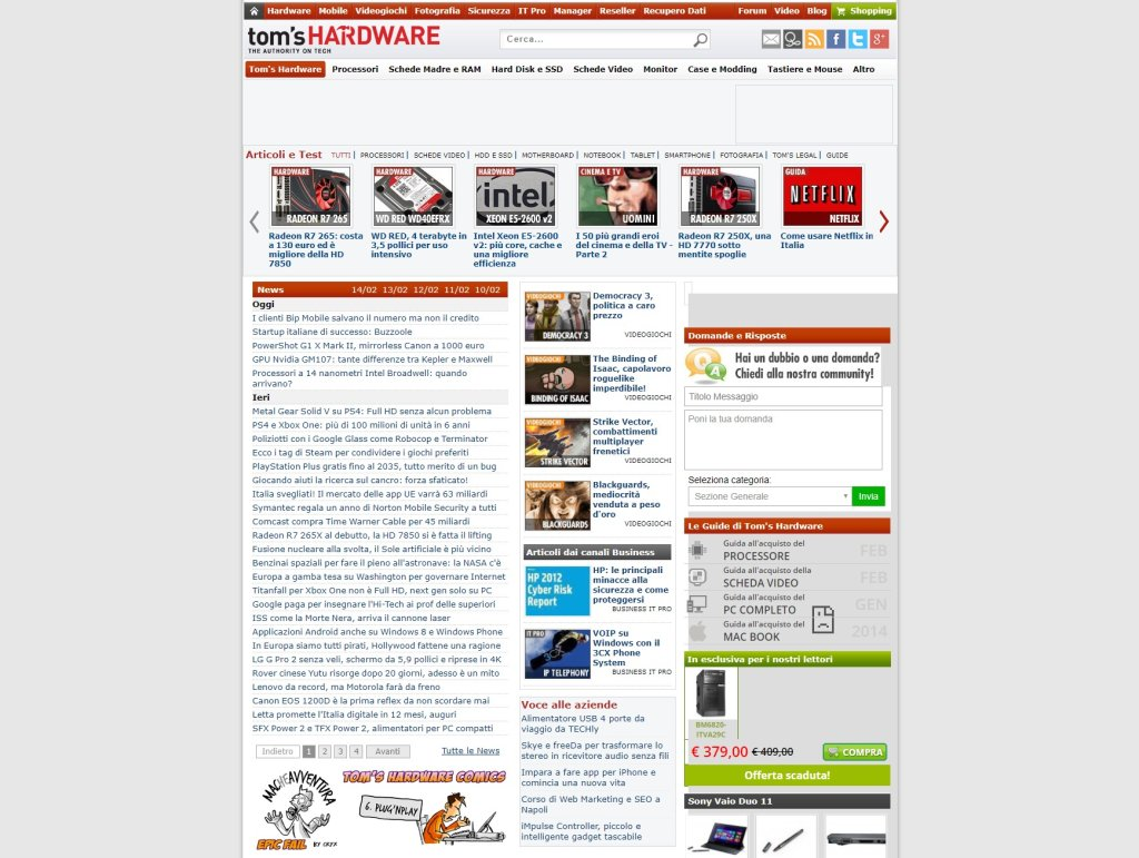 screencapture web archive org web 20140214094524 http www tomshw it 1520327766265