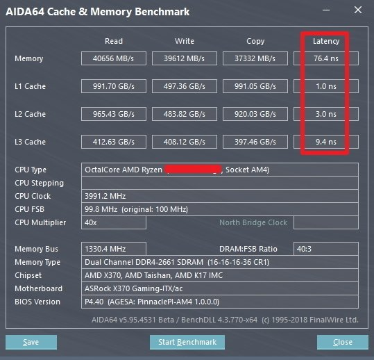 AMD Pinnacle Ridge Zen Ryzen 7 2000 Series CPU AIDA64 1