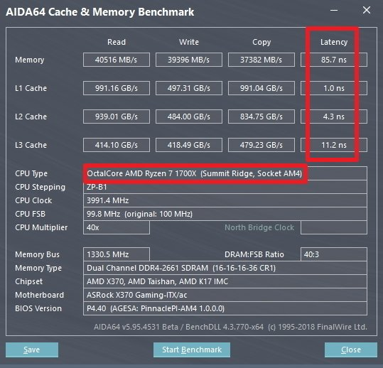 AMD Pinnacle Ridge Zen Ryzen 7 2000 Series CPU AIDA64 2
