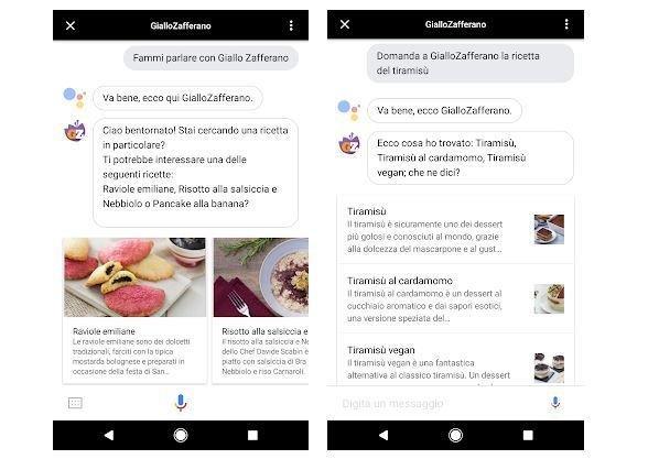 Google, Actions disponibile anche in italiano