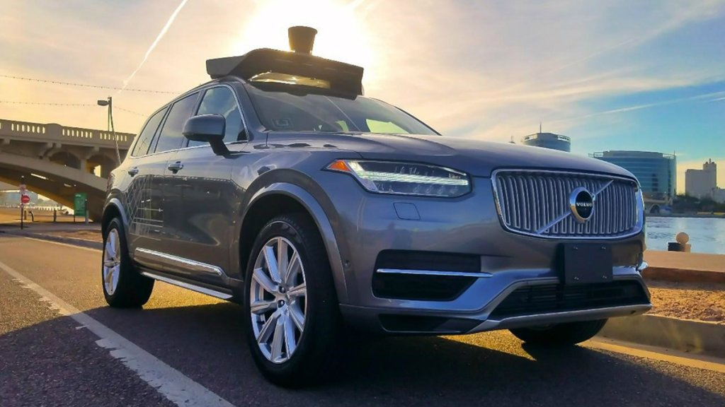 Uber Volvo XC90 driverless vehicle