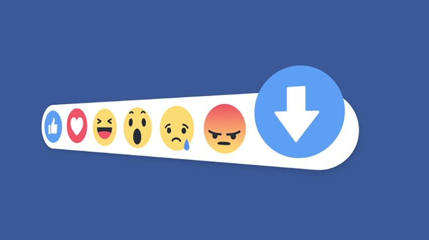 facebook downvote button