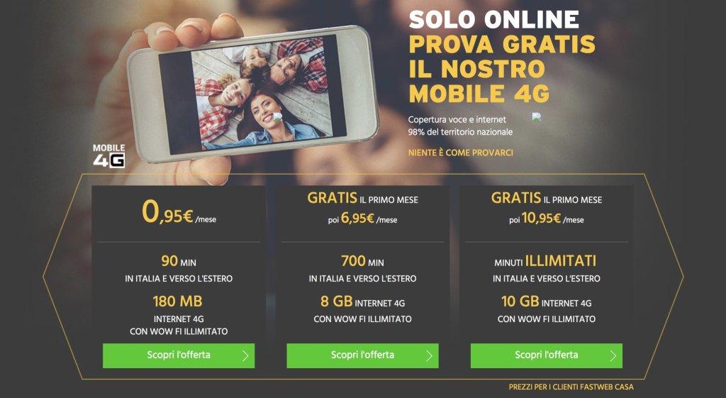 Fastweb mobile, tutte le domeniche chiamate illimitate verso tutti