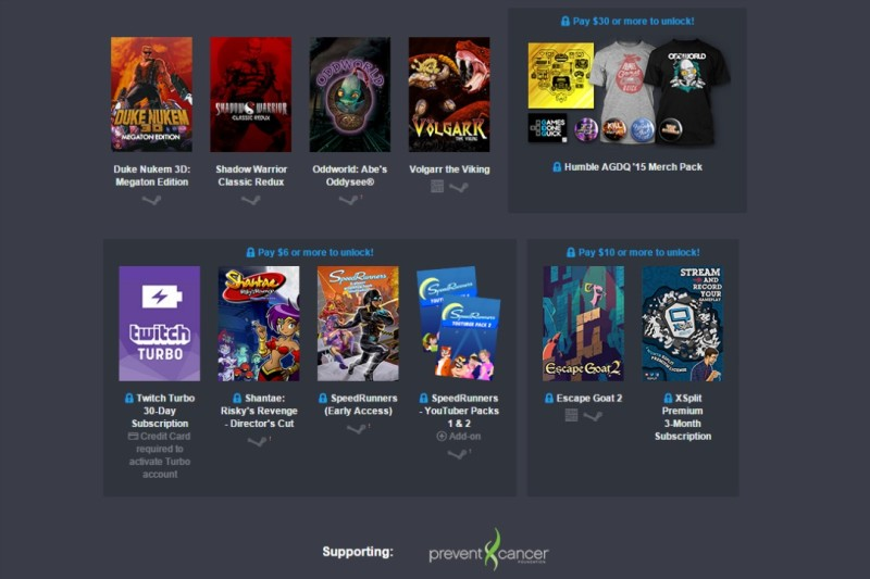 Humble Awesome Games Done Quick 2015 Bundle