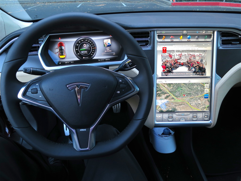 Tesla Model S digital panels
