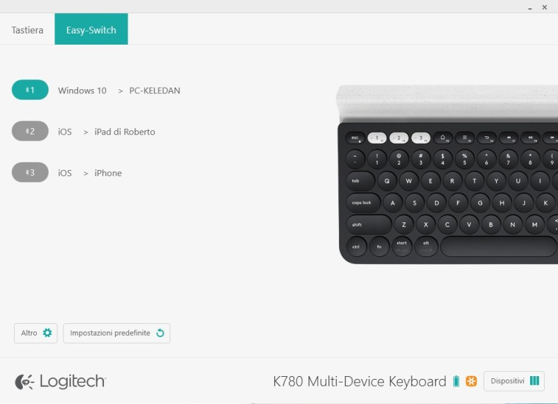 Screenshot 1 logitech options