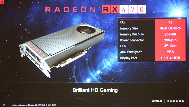 AMD Radeon RX 470 Specifications