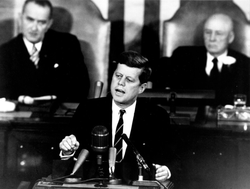 Kennedy Giving Historic Speech to Congress   GPN 2000 001658