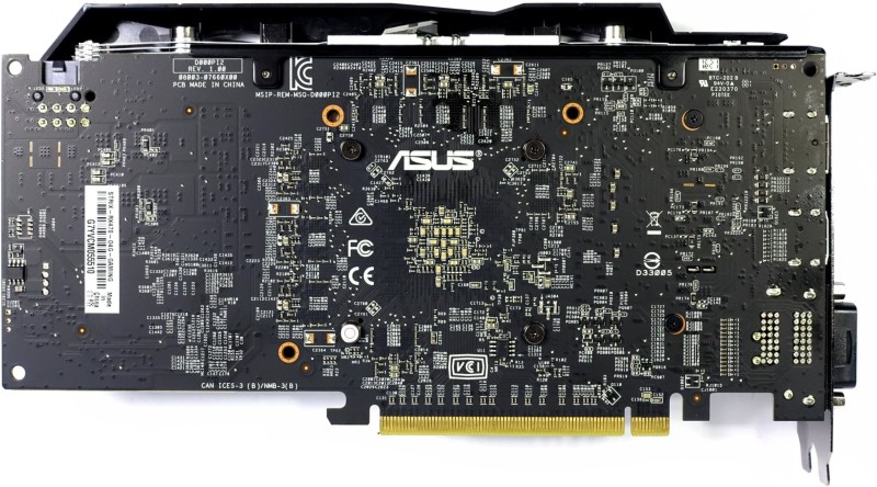 Asus RX 470 Strix Front Back