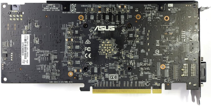 Asus RX 470 Strix PCA Back