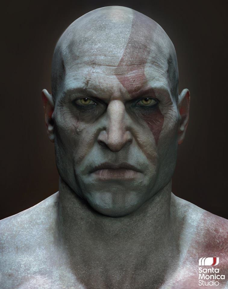god of war kratos senza barba