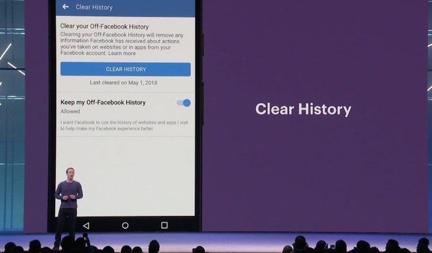 facebook clear history 814x478