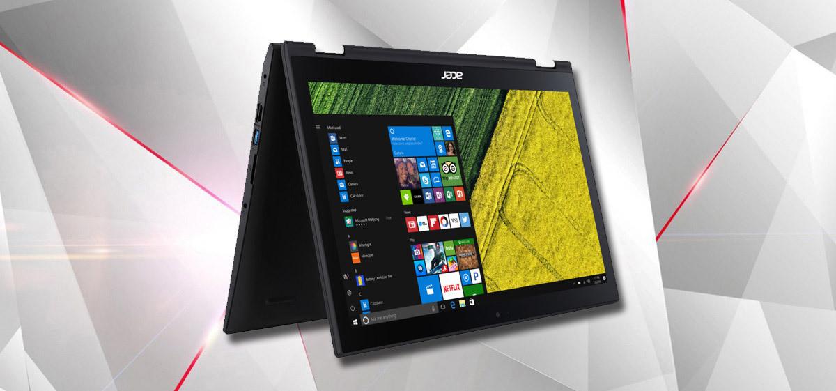 Acer Spin e Swift, notebook ultrasottili da 10 mm