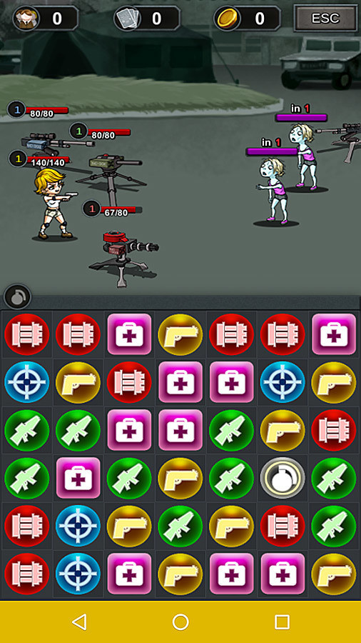 Puzzle and Zombie Arena Android Game 2