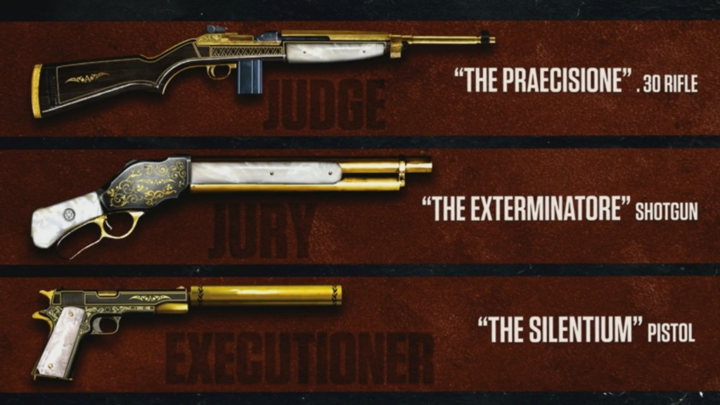 Mafia III Gold Weapon Pack