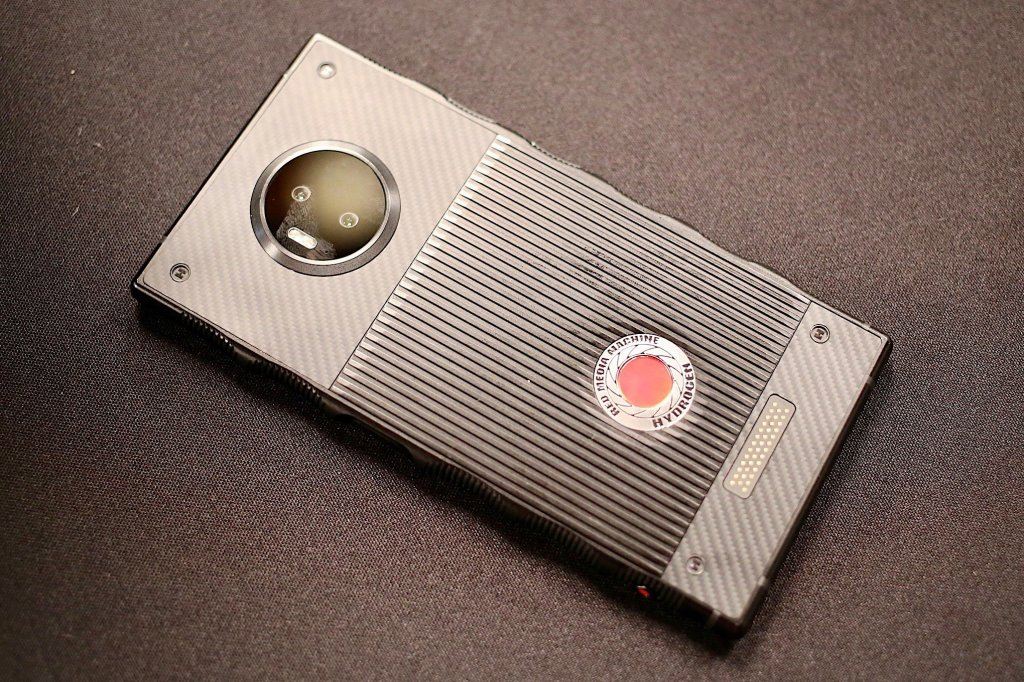 red hydrogen one hands on 02