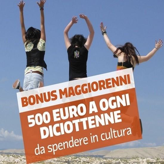 Bonus 500 euro per i diciottenni