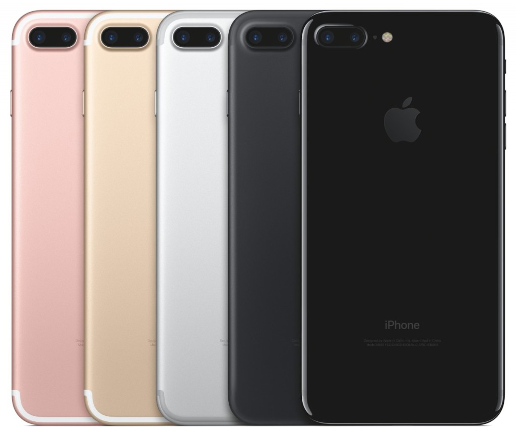 the iphone 7 comes in five colors rose gold gold silver and two new shades of black
