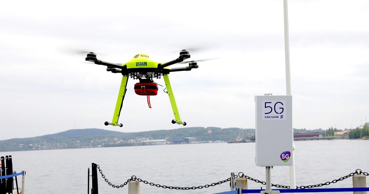 Ericsson 5G, il defibrillatore del futuro arriverà col drone