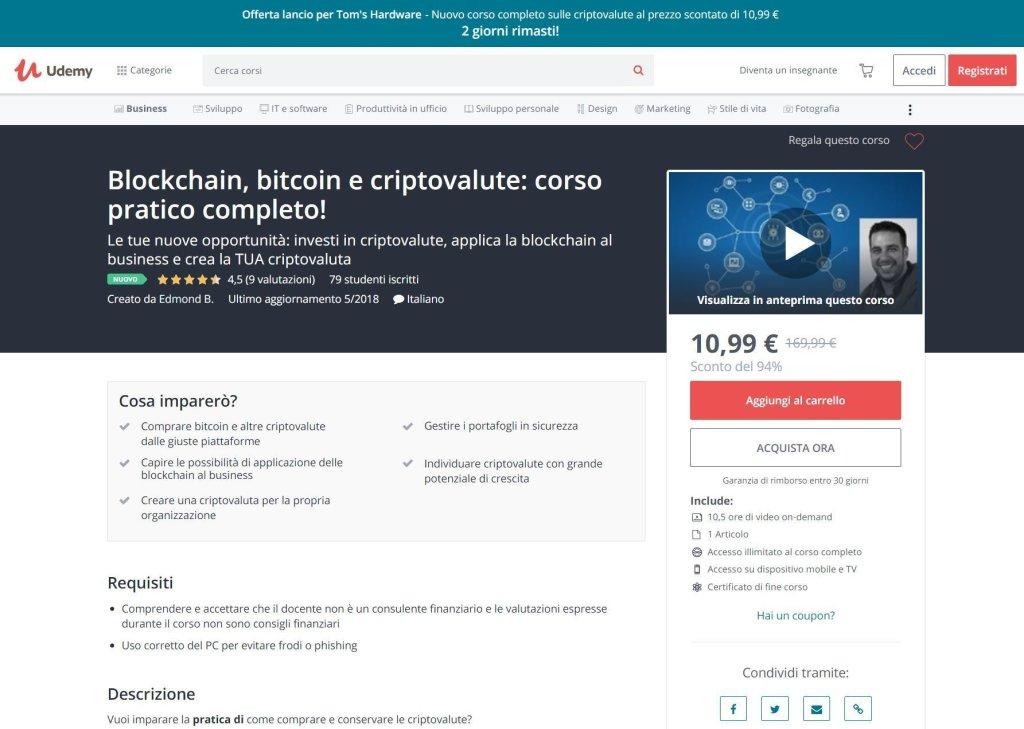 I migliori corsi online per studiare bitcoin, blockchain e criptovalute