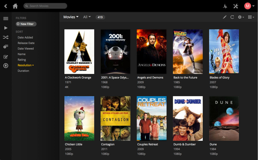 Plex Web Interface