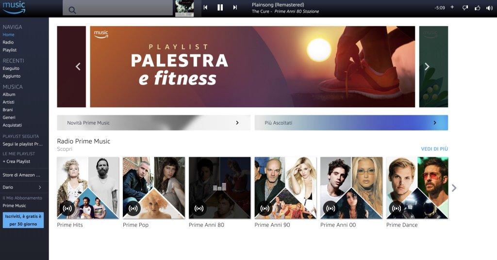 Amazon Prime Music: 40 ore al mese di musica gratis