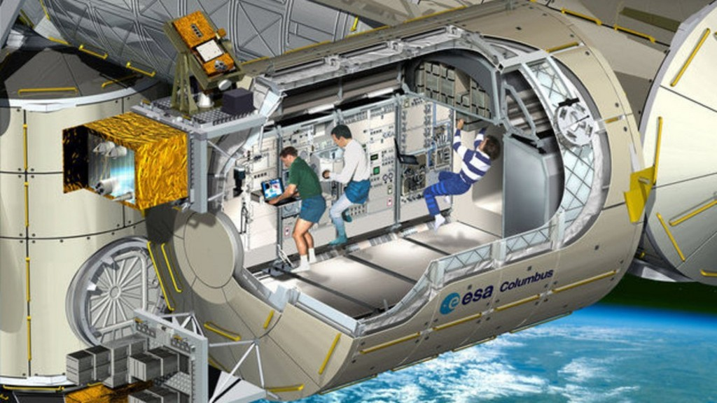Cutaway view of Columbus laboratory article mob