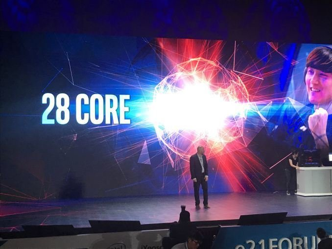 28 core intel computex