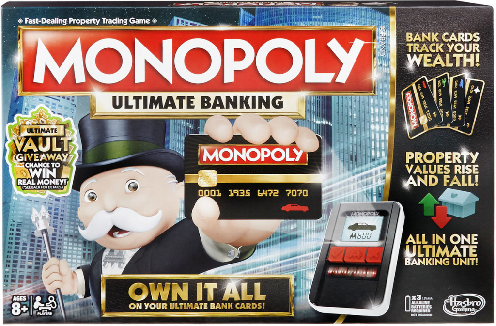 hasbro monopoly game ultimate banking edition