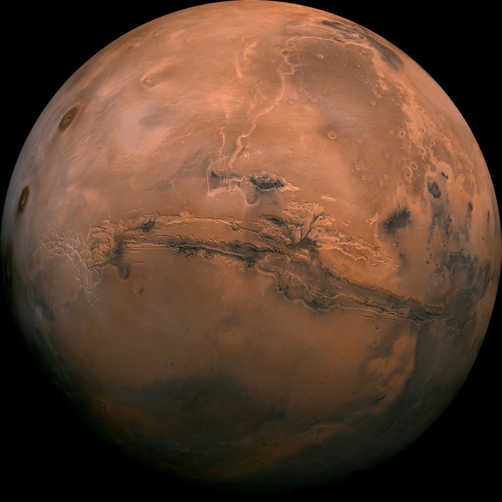 mars globe valles marineris enhanced