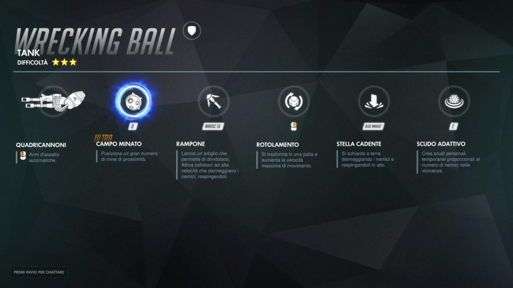 overwatch wrecking ball abilità