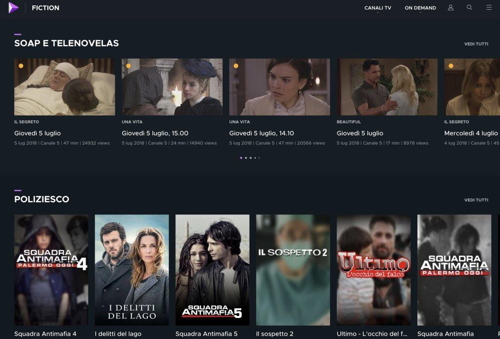 Ecco Mediaset Play: TV Live, Fiction E Film On-demand