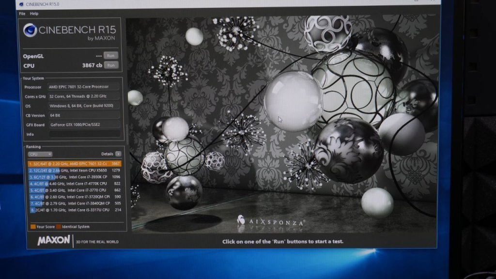 AMD 2990X 32 Core Cinebench Benchmark EPYC 1
