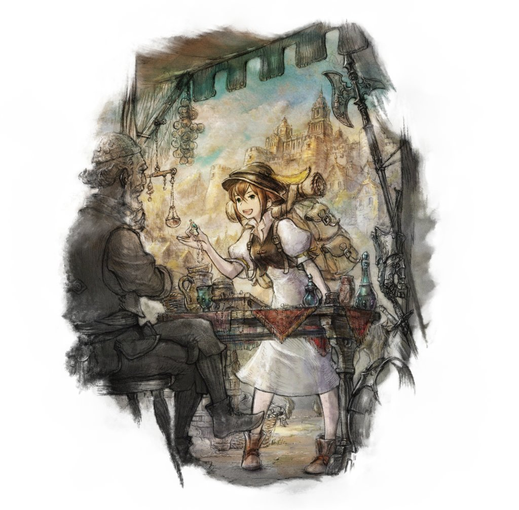 Octopath Traveler   Character artwork   Tressa