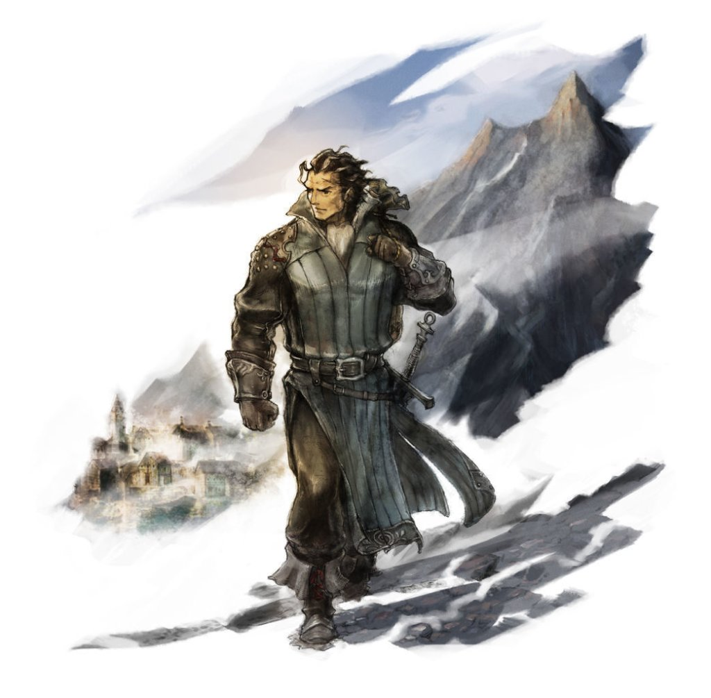 Project Octopath Traveler   Character Art   Olberic 01