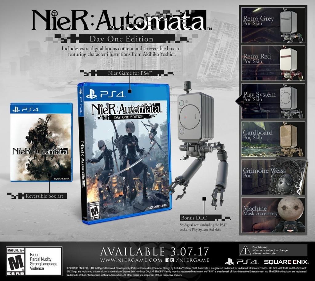 Nier: Automata arriverà il 10 marzo su PlayStation 4