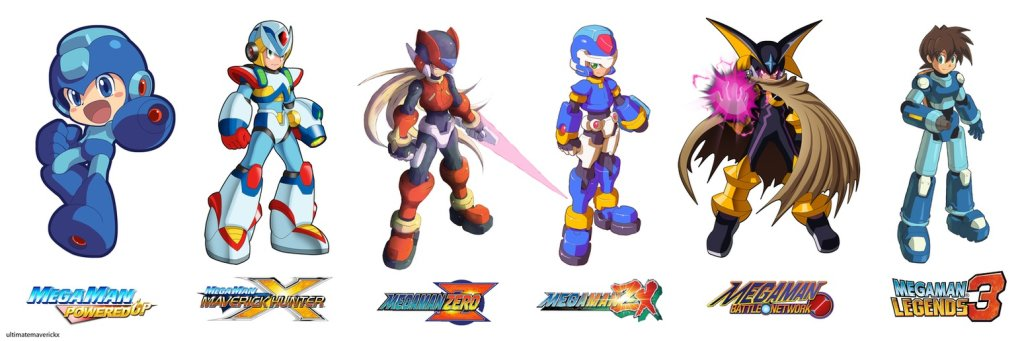 megaman official art styles by ultimatemaverickx d6gkh77