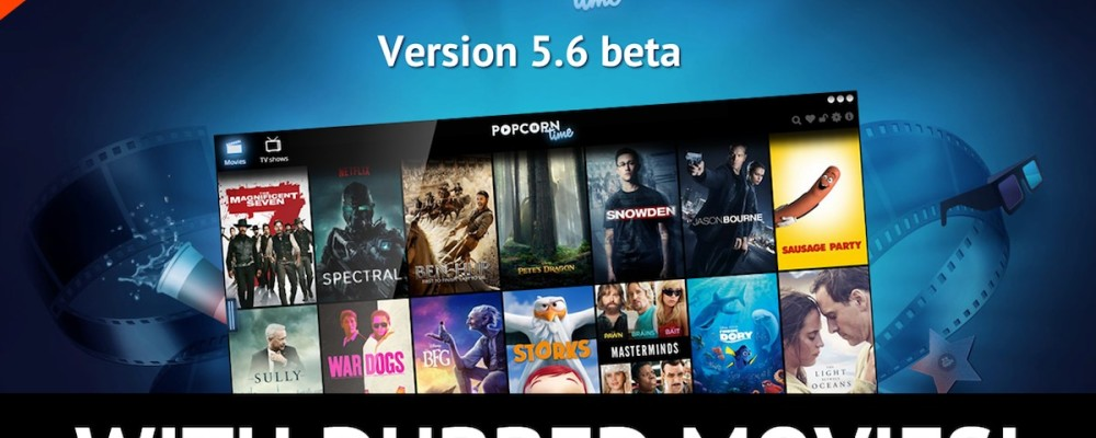 Popcorn Time con film doppiati in italiano, su desktop PC