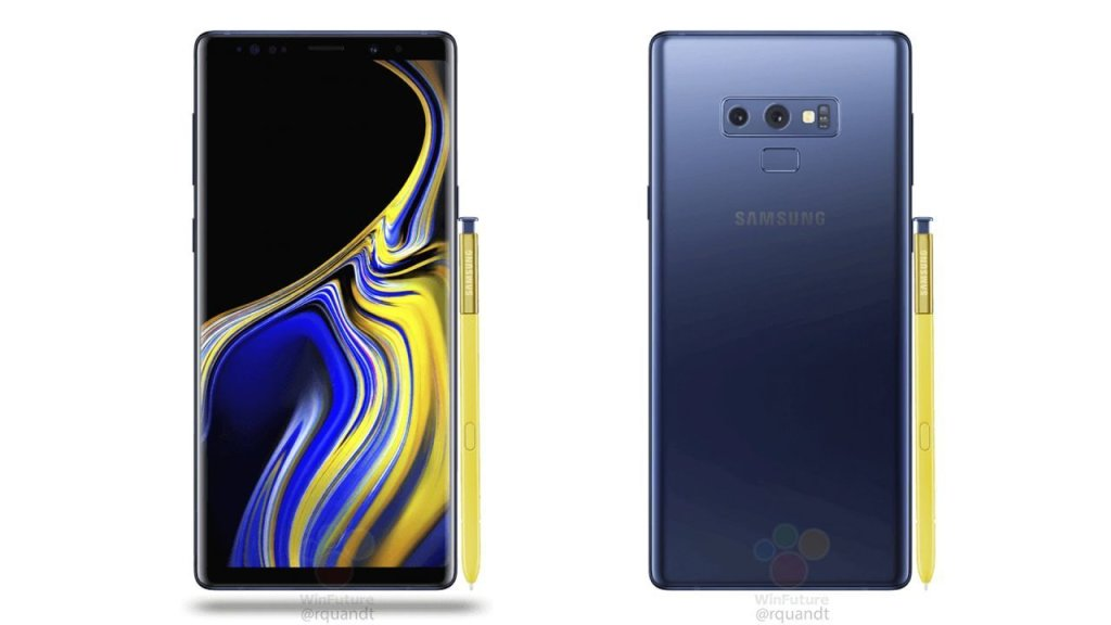 Samsung Galaxy Note 9 Fronte Retro 1280x720