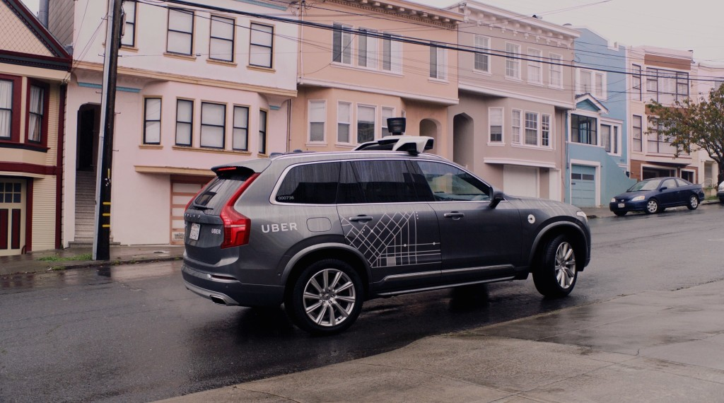201684 Uber launches self driving pilot in San Francisco with Volvo Cars